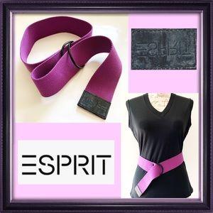 NWOT Purple Canvas Belt